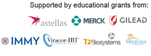 This activity is supported by independent educational grants from Astellas Scientific and Medical Affairs Inc.; Merck; Gilead Sciences Europe, Ltd; IMMY; Viracor-IBT; T2 Biosystems; and MiraVista Diagnostics.